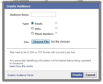 Facebook: pubblicità sempre più mirata con email e numeri di telefono