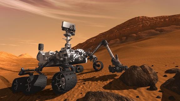 Frammento luminoso su Marte? È un pezzo di plastica