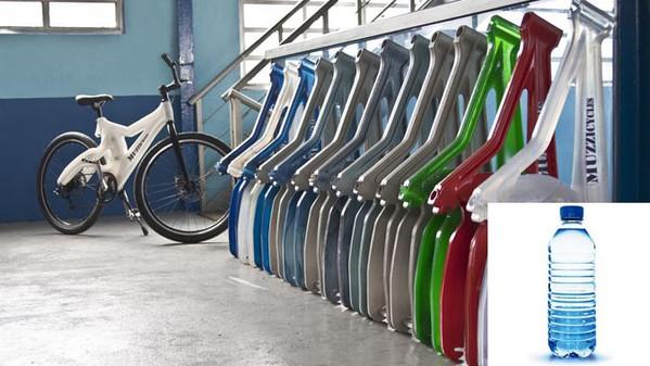 Ricicletta, la bicicletta fatta di bottiglie di plastica