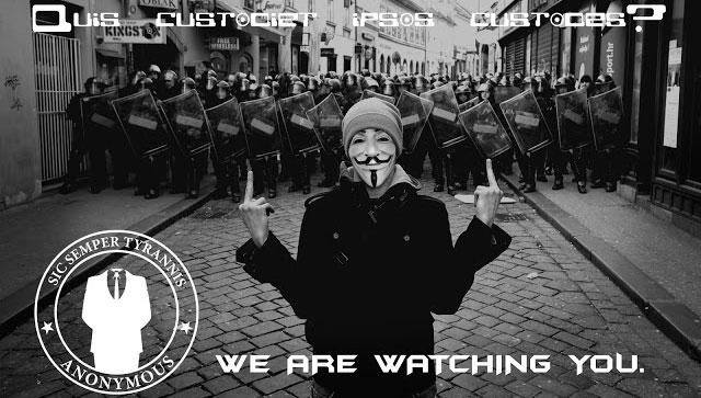 Anonymous attacca i server della Polizia