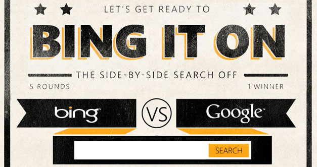 Microsoft sfida Google: Bing it on