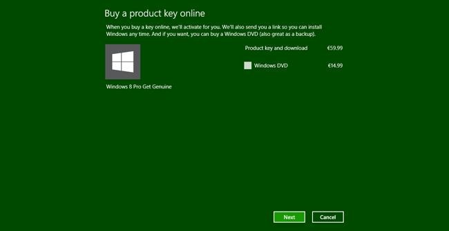 Microsoft 8 pro e il baco che lo rende attivabile a costo zero