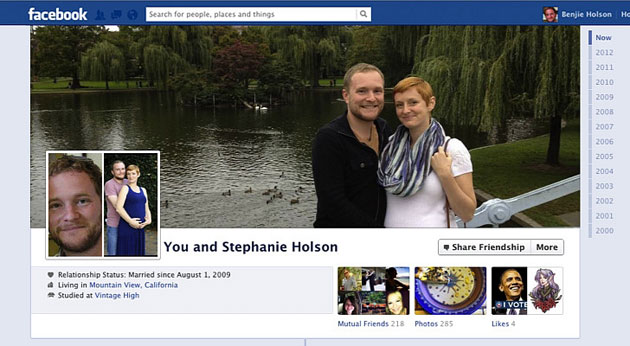 Facebook: la Timeline per le coppie