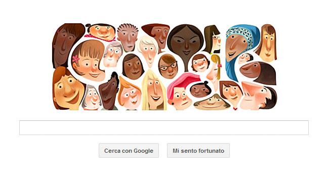 Google Doodle 8 Marzo: giornata della donna