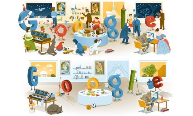 Google doodle di Capodanno: riesci a trovare tutti i riferimenti?