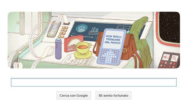 Google Doodle dedicato a Douglas Adams