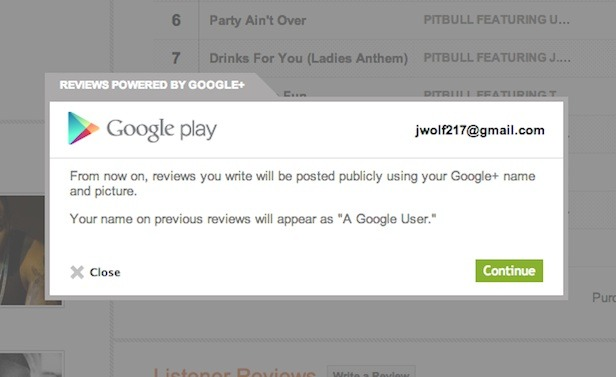 Google Play vieta i commenti anonimi