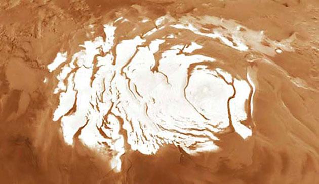 Nevica anidride carbonica su Marte