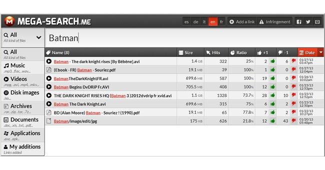 Mega Search: il motore di ricerca per MEGA