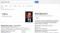 Per Google un nano è alto come Silvio Berlusconi