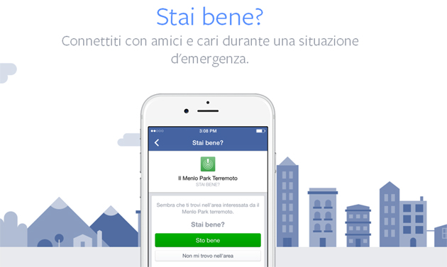 Safety Check by Facebook, per rassicurare i propri cari in caso di disastro