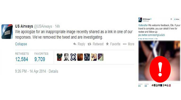 Us Airways e l'immagine porno su Twitter