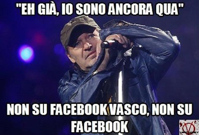 Facebook: Vasco Rossi attaccato da Shit Army