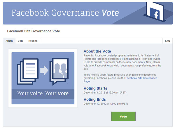 Facebook, votate per la vostra privacy
