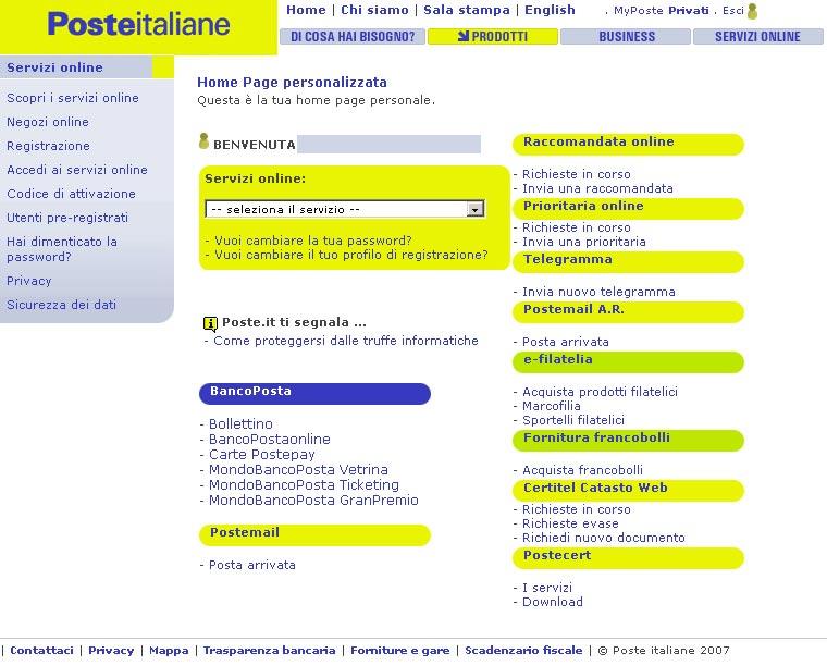 servizi online di poste italiane tutto oro quel che luccica