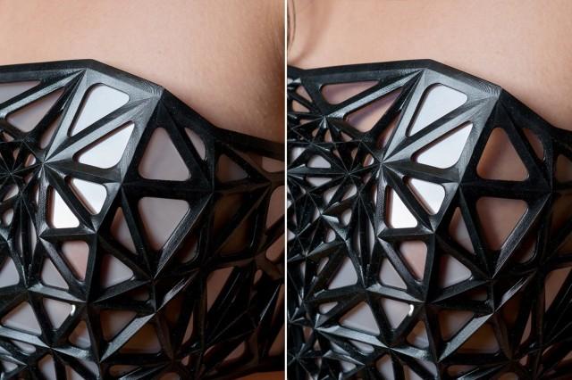 X.pose, un top prodotto con stampante 3D a trasparenza variabile