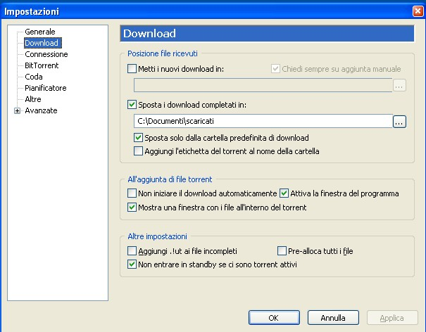 Scaricare i file torrent con utorrent guide windows - La finestra di fronte torrent ...
